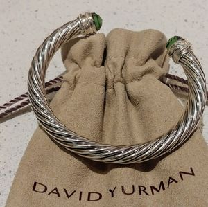 David Yurman 7mm cable prasiolite diamond bracelet